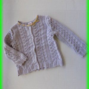 Gymboree Crochet Ribbon Cardigan Sweater Size 2T